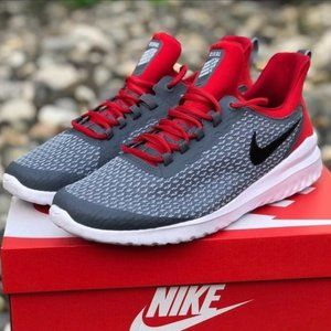 NEW! Nike Men Gray Red Renew Rival Running Shoe 11
